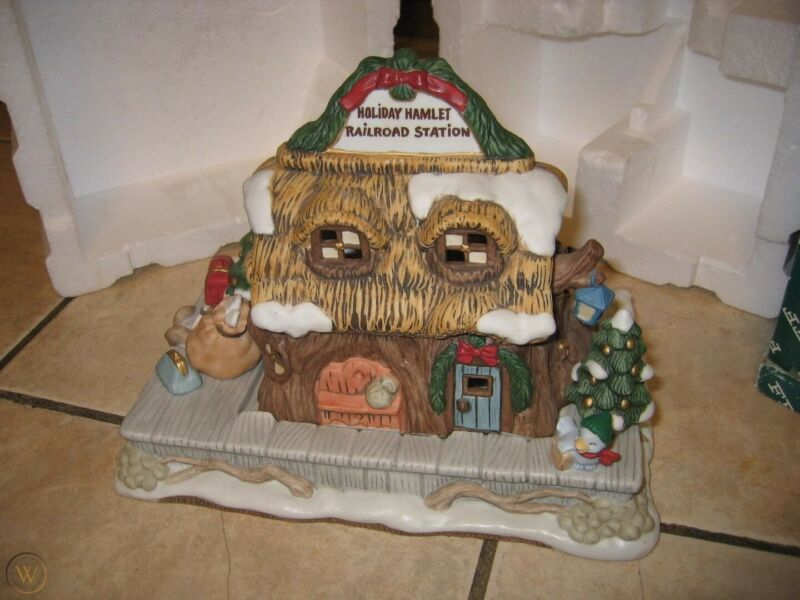 Holiday Hamlet Railroad Station Enchanted Forest