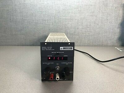 Lambda Lq-520 Regulated And Adjustable Power Supply 0-10v 5.0a