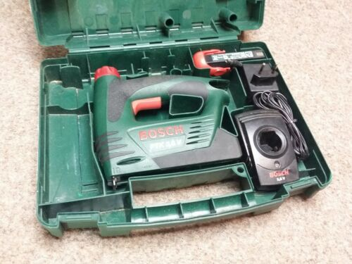 Bosch Akku Tacker PTK 3,6  Elektrotacker Heftpistole mit Ladegerät im Koffer