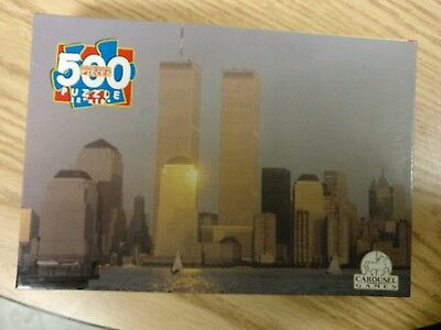 RARE MINT SEALED  2001! WORLD TRADE CENTER TOWER S JIGSAW PUZZLE WTC 911 9/11/01