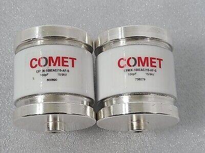 Lot Of 2 Comet Vacuum Capacitor Cfmn-100cac15-af-g 100pf 159kv