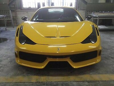 Ferrari 458 Italia Speciale Style hood and front bumper body kit