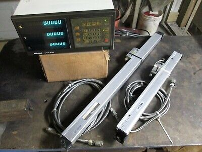 Digital Readout Dro Mitutoyo Pl-335 At-2 Linear Glass Scales 400mm 600mm