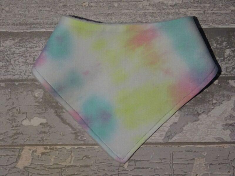 Homemade+soft+fleece+%26+cotton+baby+dribble+bibs+handkerchief%2Fbandana+Tie-dye