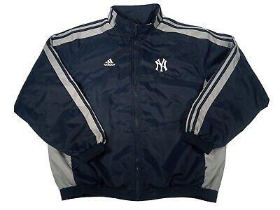 Adidas Team New York Yankees Full Zip Lined Windbreaker Baseball Jacket Mens L