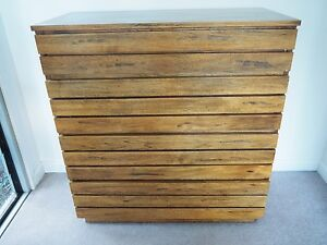 Domayne Atelier 4 Drawer Tallboy and Bedside Table Seaforth Manly Area Preview