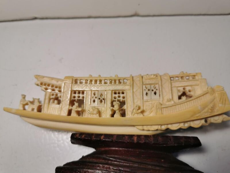 Antique Chinese Hang Carved Boat