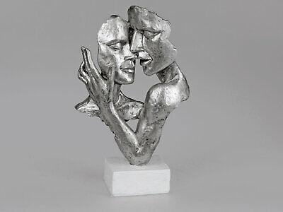 formano Dekofigur Skulptur Dekoobjekt  Büste Paar weiß silberHochzeit 729255