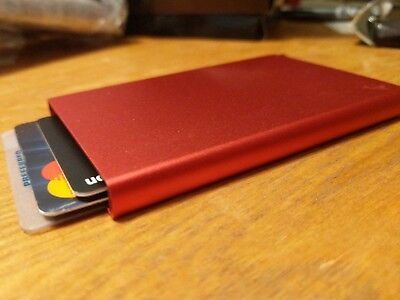 Red Cascade Wallet Popup Card Holder With Rfid Blocking
