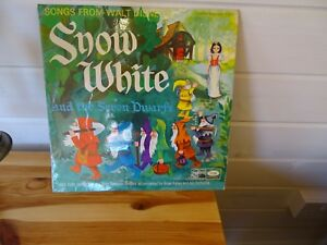 Vintage Disney Snow White Vinyl Record LP 1960s