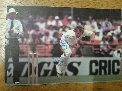 Rodney Hogg Australian Test Cricketer Signed Magazine Photo
