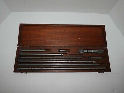 Vintage Starrett 823 Tubular Inside Micrometer Rod Set Case