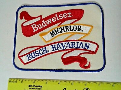 Large New vintage Budweiser Michelob Bavarian Beer Patch Anheuser Busch NOS