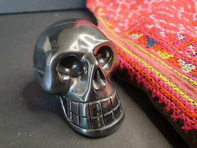 Old Pyrite Carved Skull …beautiful collection and display piece