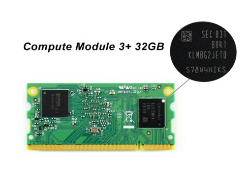 CM3+/32GB Raspberry Pi Compute Module 3+ with 32GB eMMC Flash 1GB RAM