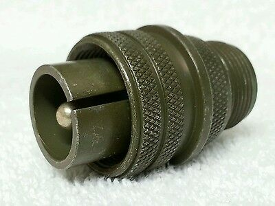 Amphenol 16-12p Connector With Shell - Nos