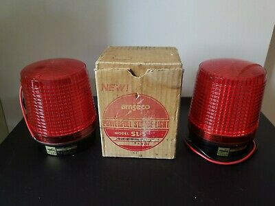New 2 Amseco Sl-5 Fire Alarm Powerful Strobe Lights Red 24 Vdc