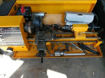 Emco Compact 5 Lathe It Was Used 1982-84 By My Father In Law Not Usedrun Fine
