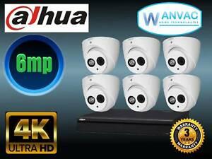 CCTV Dahua 6 x 6mp HD Camera System - Installed