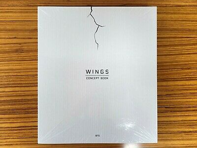 BTS [WINGS CONCEPT BOOK] Photobook+2 PHOTO FRAME PAPER NEW SEALED No Photocard