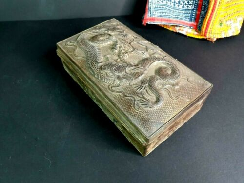 Old Chinese Metal Alloy Dragon  Box …beautiful design and collection piece
