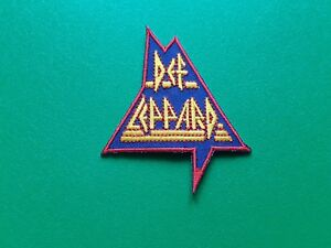 PUNK ROCK HEAVY METAL MUSIC SEW / IRON ON PATCH:- DEF LEPPARD