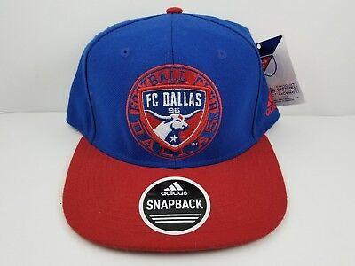 free shipping 0be93 5b556 FC Dallas Football club hat cap Adidas men s Soccer MLS blue red