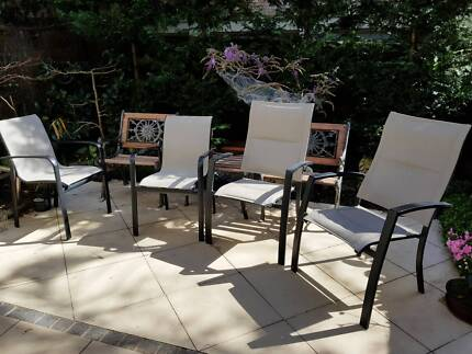 Beautiful Four Outdoor Chairs In Near New Condition Part 21