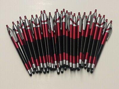 40 Piece Lot Misprint Red Retractable Stylus Click Pen Javalinajavelincirrus