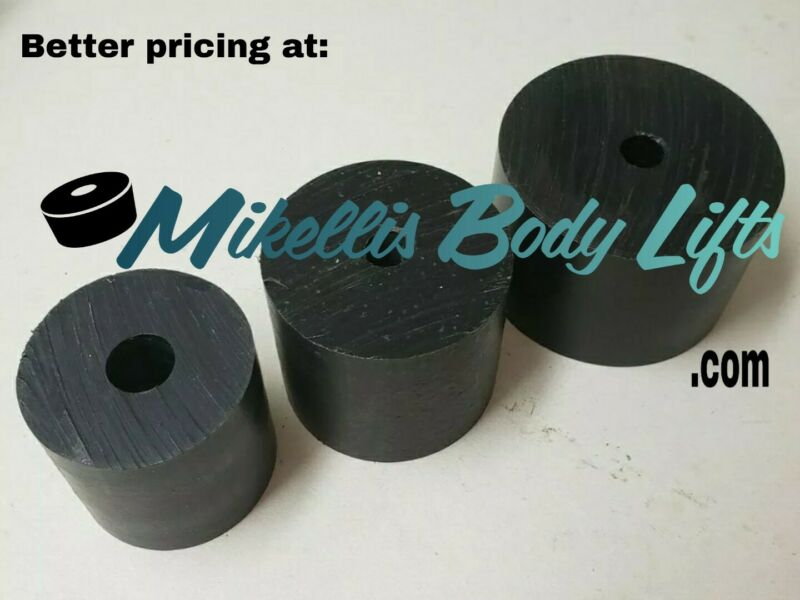 """Body Lift Blocks, Pucks 2""""-3"""" diameter with variety of lengths (PACK OF 4)"""