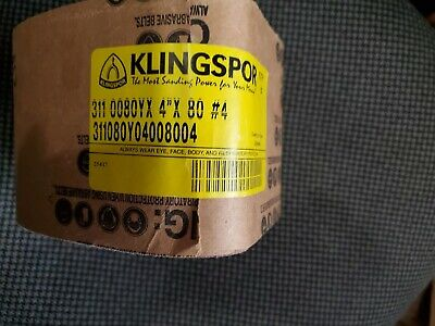 "KLINGSPOR CS310 2/""X72/"" SANDING BELT ALUMINUM OXIDE MADE IN GERMANY 600 GRIT"