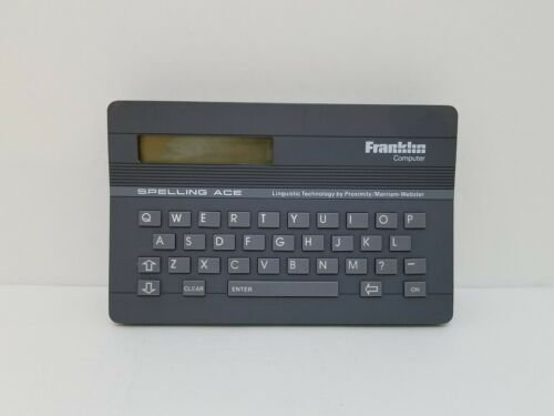 Spelling Ace Franklin SA-98 Thesaurus Electronic Merriam Webster Computer