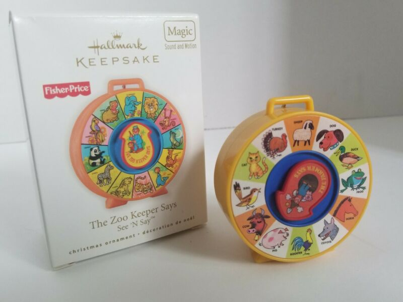 Hallmark Ornament Fisher Price The Zoo Keeper Says See N Say 2010 Sounds Motion
