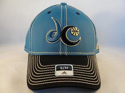 Washington Wizards Nba Adidas Flex Cap Hat Size S M Blue Black