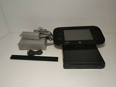 Nintendo Wii U DELUXE 32GB Black Console System Complete - TESTED/WORKING