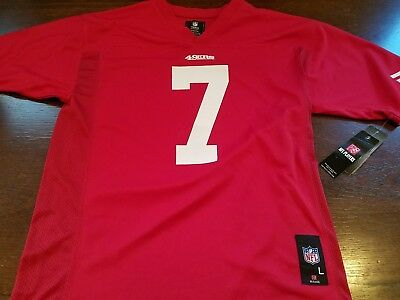 6e4f9d34449 Kaepernick Jersey San Francisco  7 Youth Large 14-16 Red NFL 49ers NWT