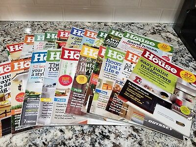 This Old House Magazine Lot Of 20  2005 08  14 17  Most Issues  2016 Full Set