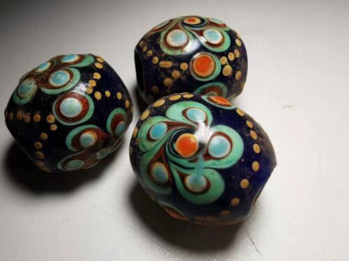 Chinese Translucent Glass beads azure stone colored glaze pendant beads 222#
