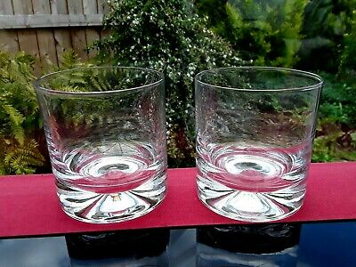 2 DARTINGTON HEAVY VINTAGE GLASSES Tumbler Whiskey BAILEYS WATER GIN & TONIC