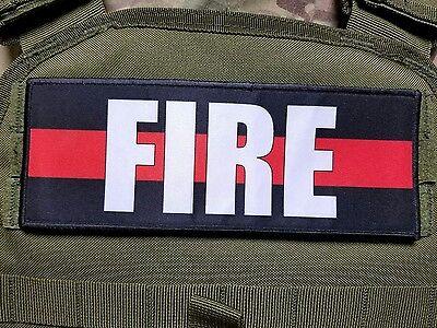 "3x8"" FIRE Morale Patch Tactical Hook Firefighter Dept. First Responder"