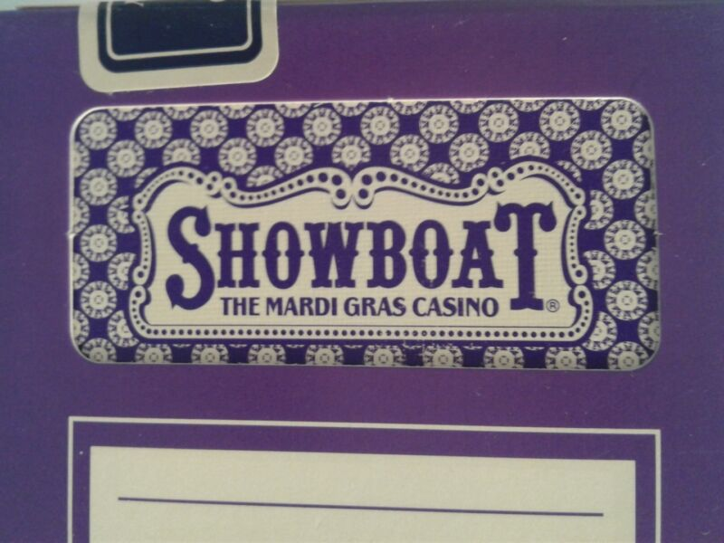 Showboat Mardi Gras Casino Atlantic City Playing Cards Purple Deck Complete