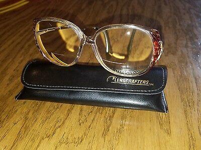 Vintage Italy Lenscrafters Lauren Michaels Wms 130 Eyeglasses Bifocals Brownmist
