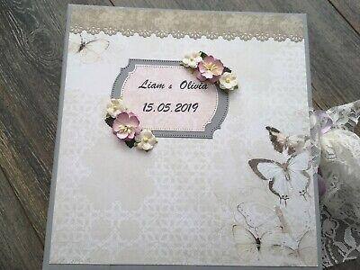 Personalised Wedding Photo Album Scrapbook Wedding  Mini Album ,Rustic Wedding