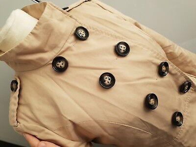 H&M Divided Jacke Übergang Mantel Trenchcoat Millitär A-Förmig Gr 36 Beige Camel gebraucht kaufen  Berlin