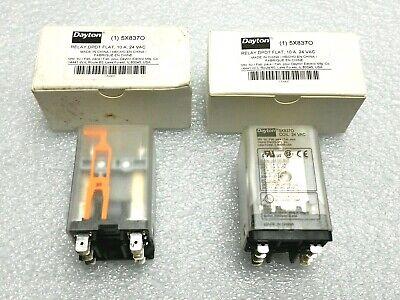Dayton Dpdt Flat Relay 5x8370 - 10 Amp 24 Volt Ac Grainger Part 5x837