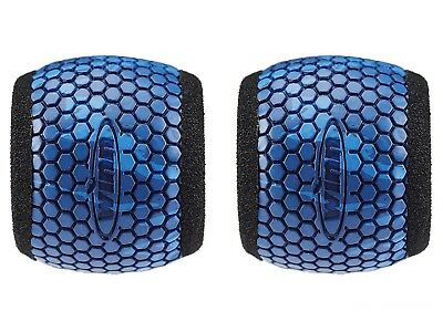 2 Winn Fishing Reel Grip Sleeves Barrel Type Blue Camo / Fit