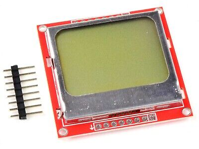 Lcd Display 8448 Pixel - Spi - Backlight - Nokia 5110 For Arduino Etc.