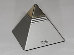 Seiko Pyramid Talk QEK 101 S Talking Alarm Clock Circa 1984
