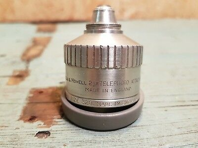 BELL & HOWELL 2 1/2 x TELEPHOTO Attachment Lens for Cine Camera