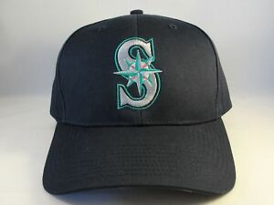 MLB Seattle Mariners Vintage Snapback Hat Cap Navy